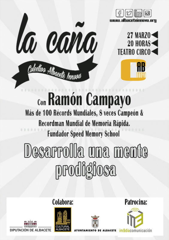 Cartel Caña 54 con Ramón Campayo