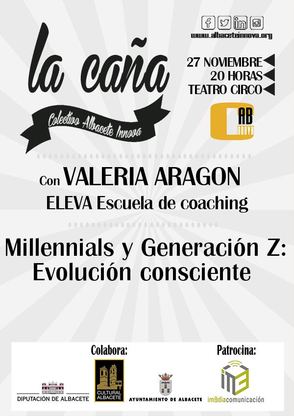 Cartel La Caña 60 Valeria Aragon